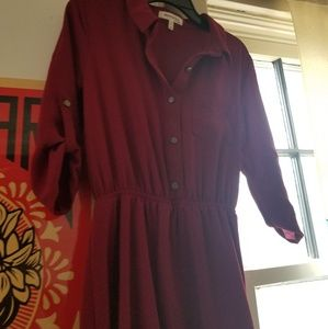 Red Formal Office Dress